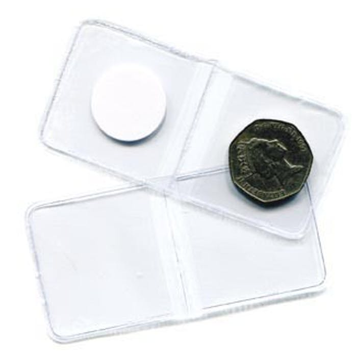Flipover Plastic Envelope 65mm - No Longer Available from Token Publishing. Please contact www.curtiscoincare.com - Token Publishing Shop