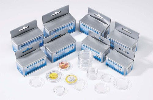 Lighthouse Coin Capsules, boxed in 10's in the Token Publishing Shop
