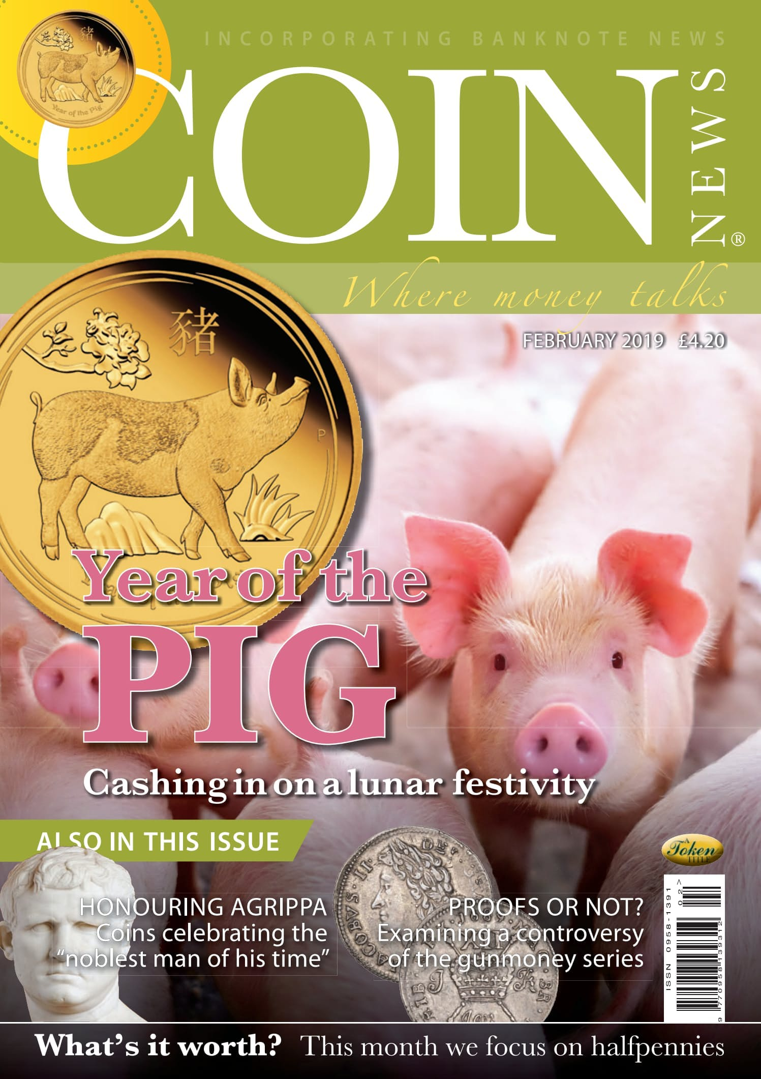 The front cover of Coin News, February 2019 - Volume 56, Number 2