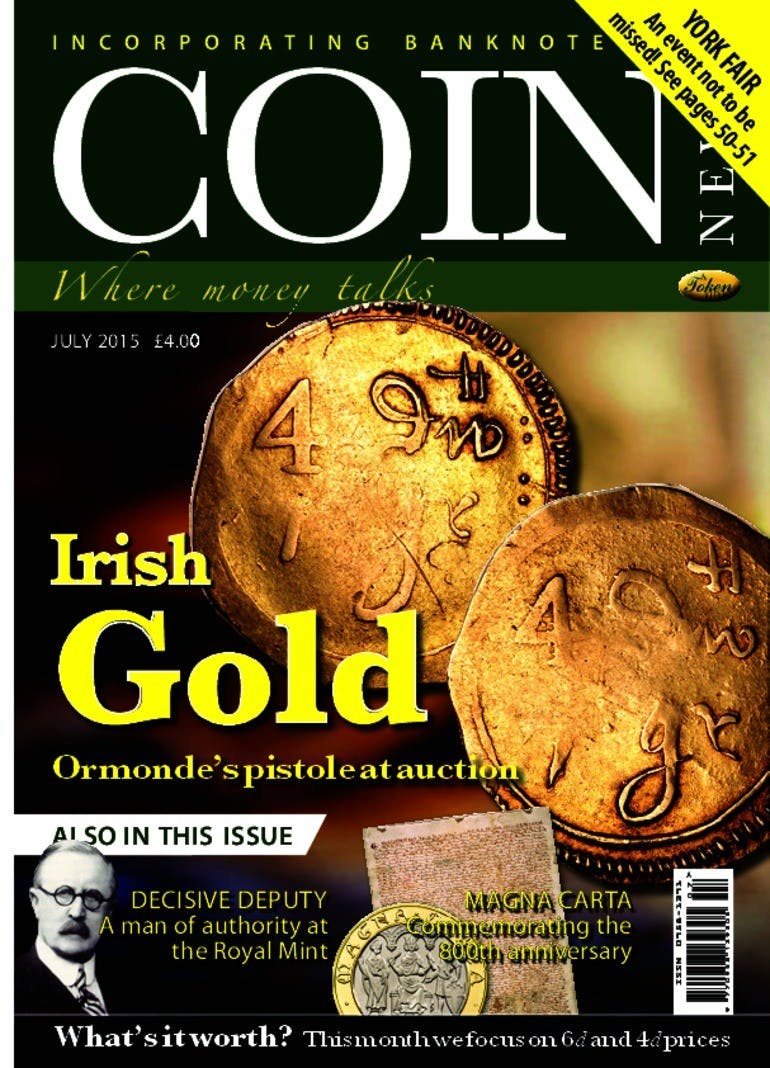 Front cover of 'Irish Gold', Coin News July 2015, Volume 52, Number 7 by Token Publishing