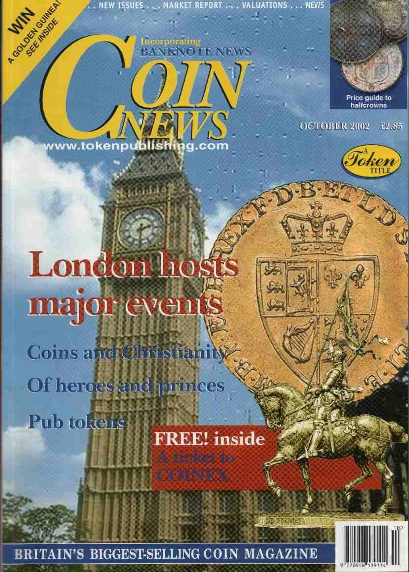 Front cover of 'Rising to the challenge', Coin News October 2002, Volume 39, Number 10 by Token Publishing