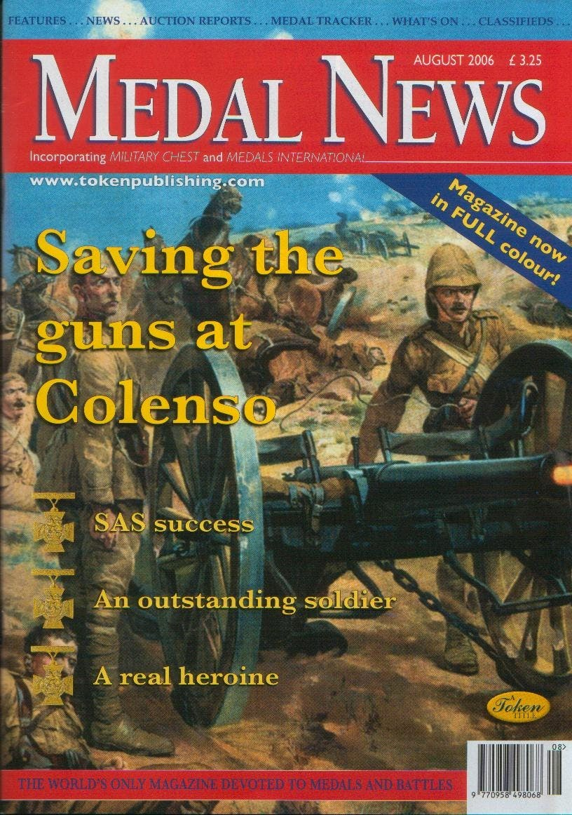 Front cover of 'Maybe not so rosy', Medal News August 2006, Volume 44, Number 7 by Token Publishing