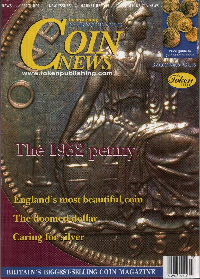 Front cover of 'The Euro - one year on', Coin News March 2003, Volume 40, Number 3 by Token Publishing