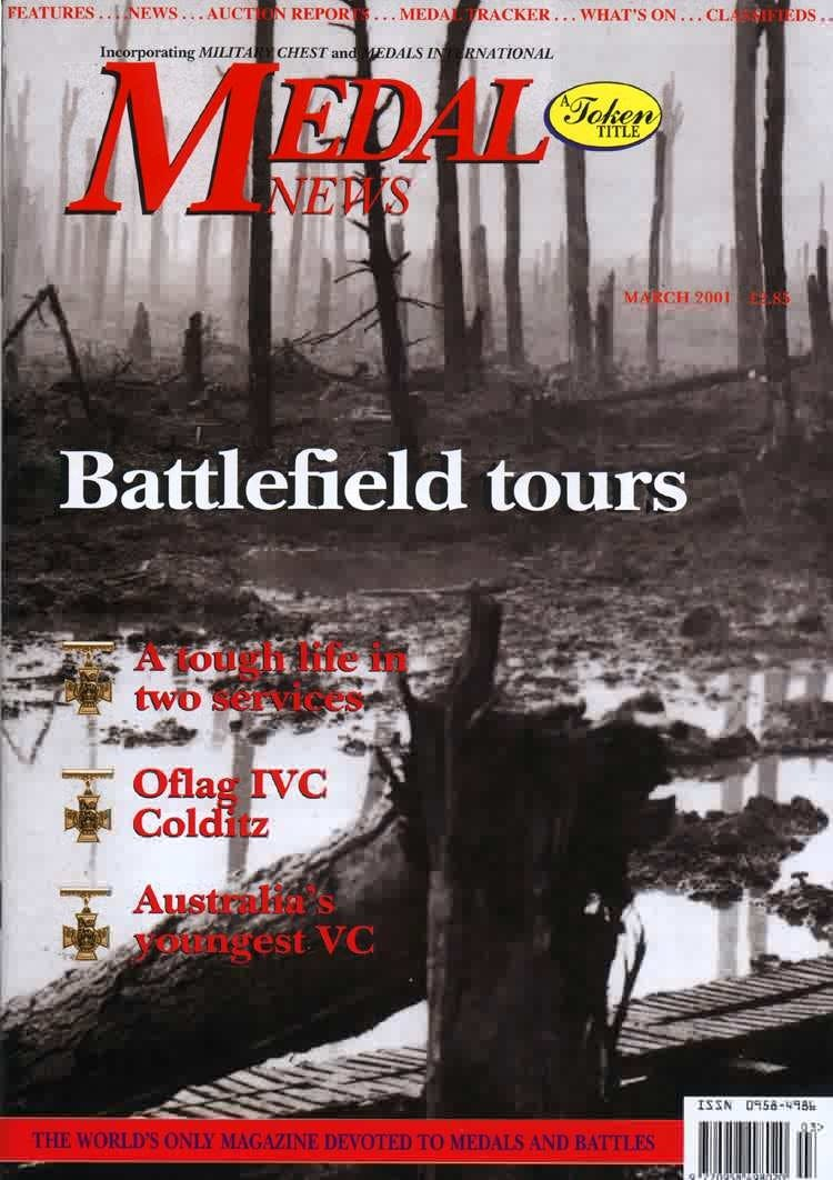 Front cover of 'Out and about', Medal News March 2001, Volume 39, Number 3 by Token Publishing