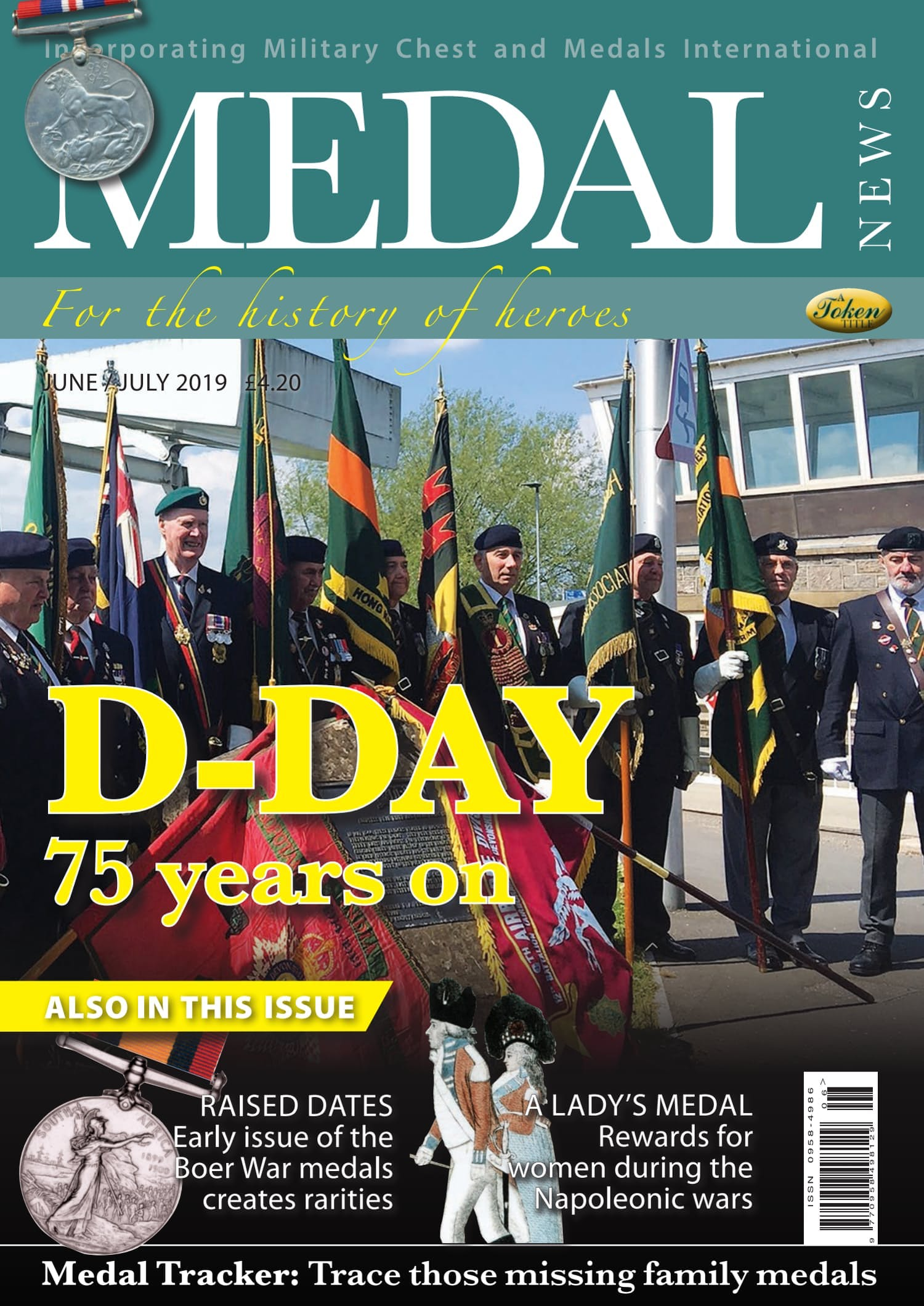 Front cover of 'D-Day', Medal News June 2019, Volume 57, Number 6 by Token Publishing