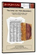 Army List 1920 in the Token Publishing Shop