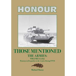 Honour those Mentioned - The Armies Volume I (A-K) in the Token Publishing Shop