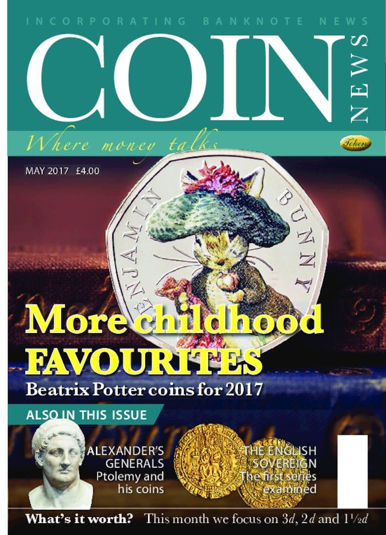 Front cover of 'More childhood favourites', Coin News May 2017, Volume 54, Number 5 by Token Publishing