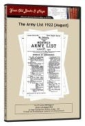 Army List 1922 in the Token Publishing Shop