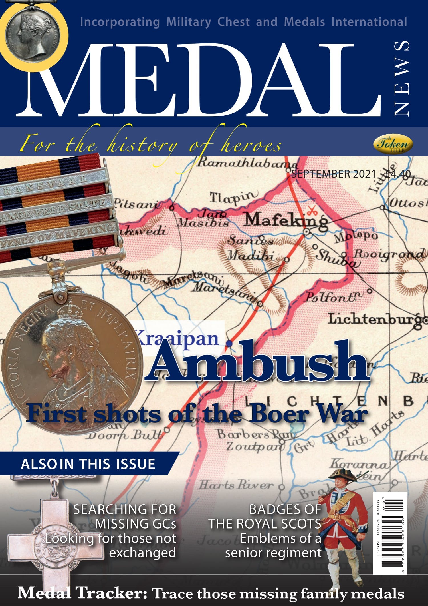 The front cover of Medal News, Volume 59, Number 8, September 2021