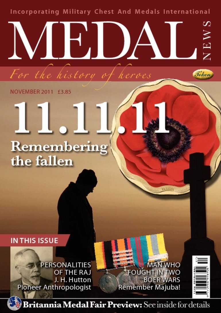Front cover of '11.11.11', Medal News November 2011, Volume 49, Number 10 by Token Publishing