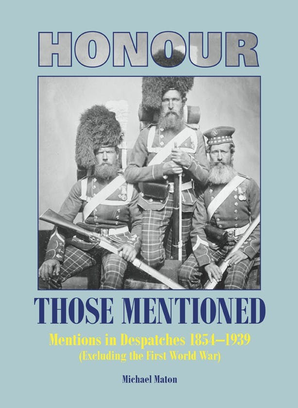 Honour those Mentioned 1854-1939 (excl.WWI) - Token Publishing Shop