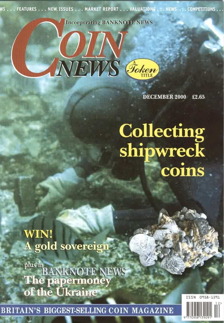 Front cover of 'A Good Start', Coin News December 2000, Volume 37, Number 12 by Token Publishing