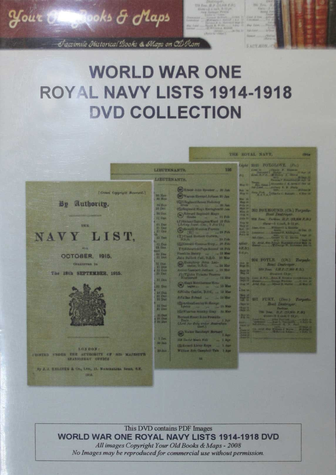 Navy Lists World War I in the Token Publishing Shop