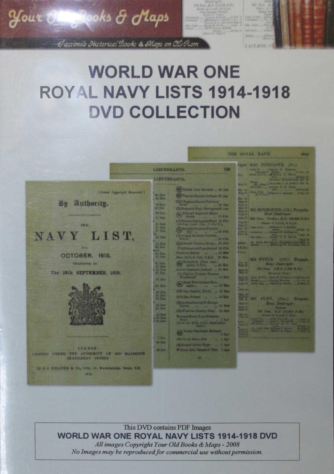 Navy Lists World War I - Token Publishing Shop