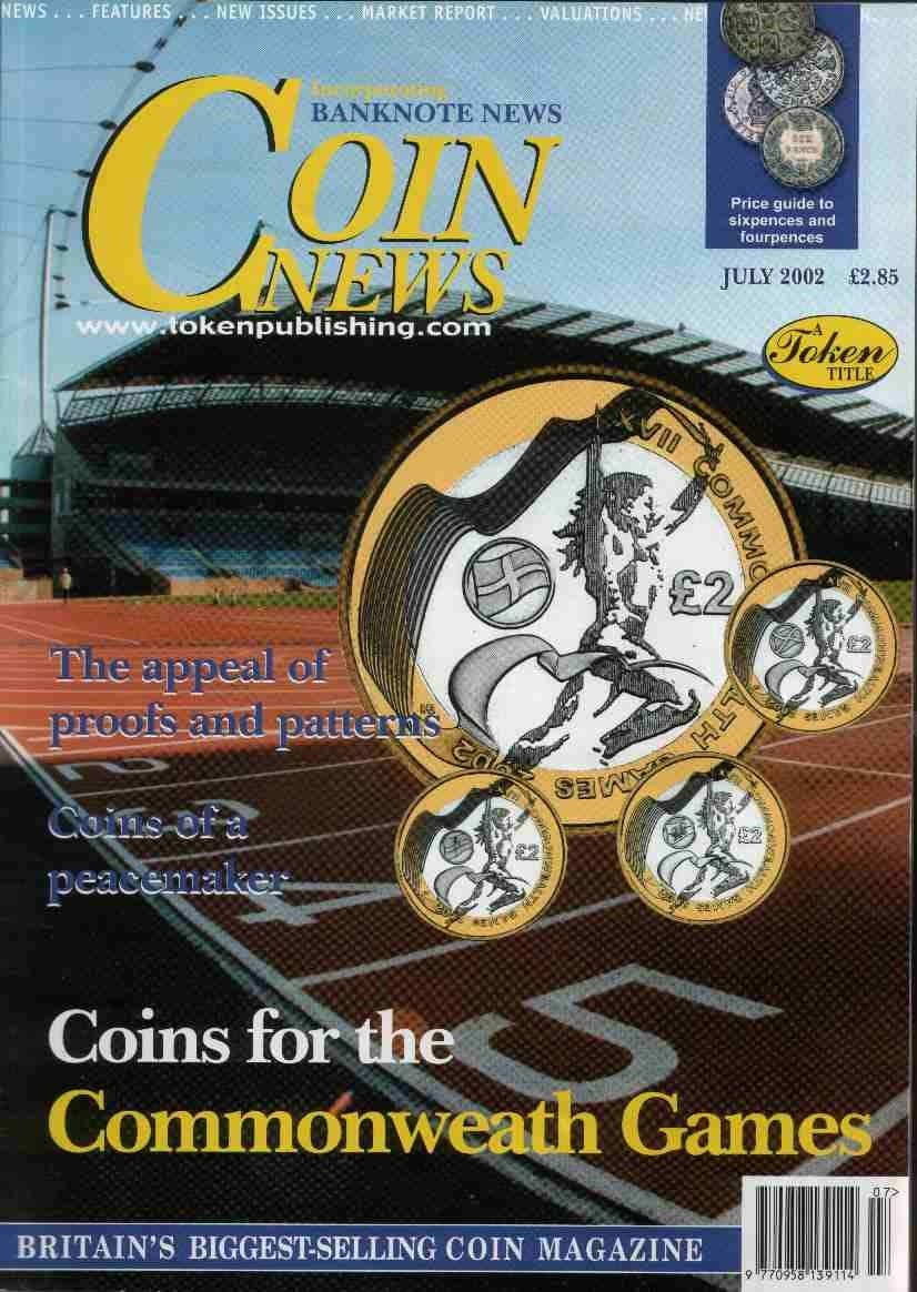Front cover of 'An Open Challenge', Coin News July 2002, Volume 39, Number 7 by Token Publishing