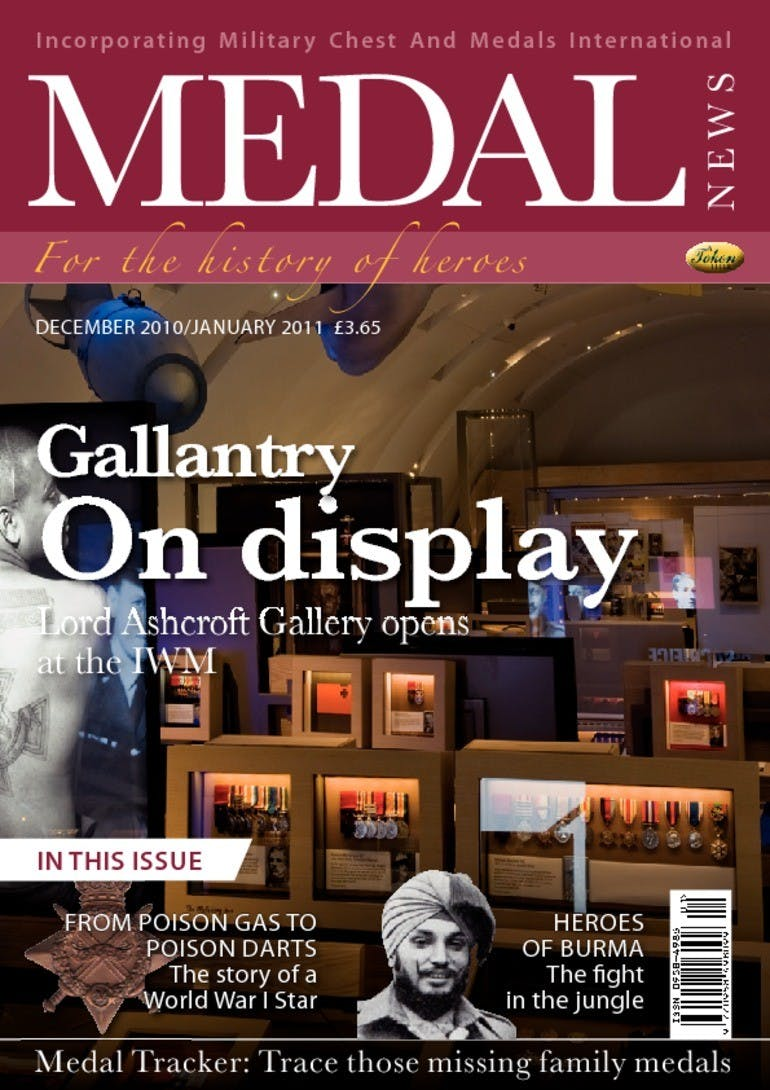 Front cover of 'Gallantry On display', Medal News December 2010, Volume 49, Number 1 by Token Publishing