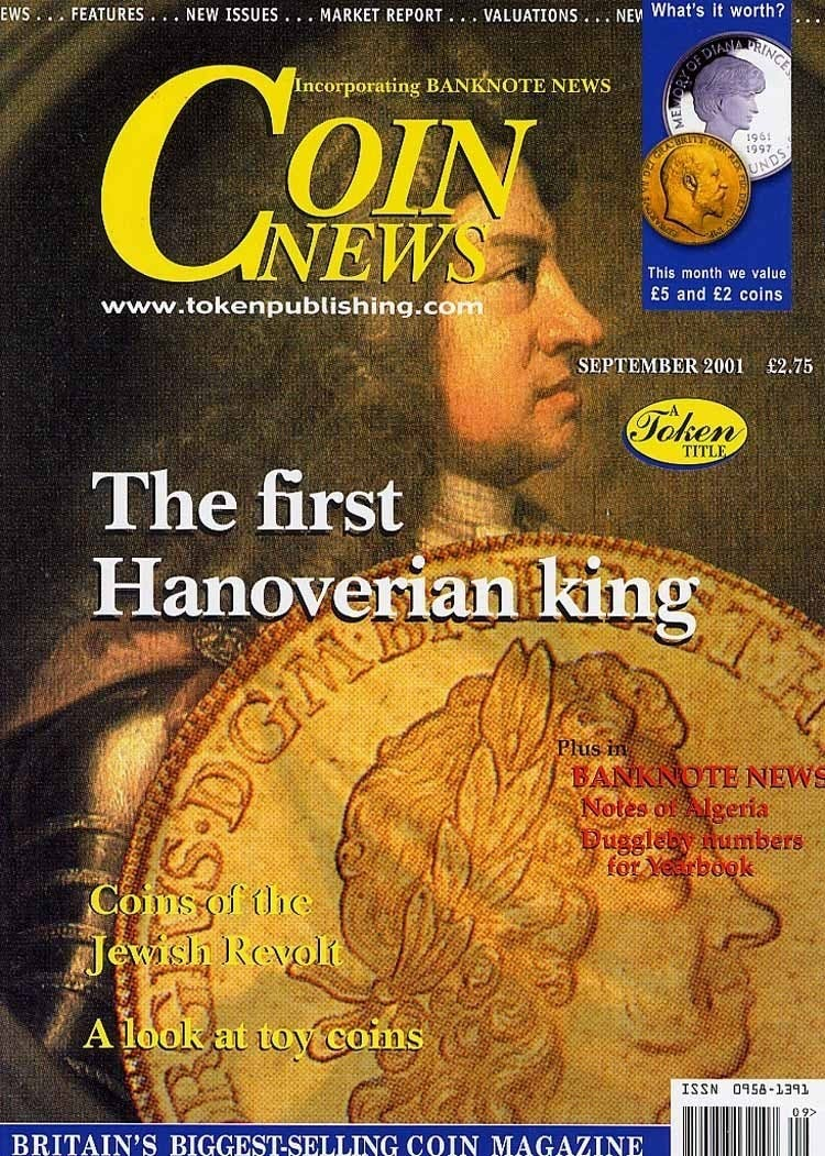 Front cover of 'Phew! What a scorcher!', Coin News September 2001, Volume 38, Number 9 by Token Publishing