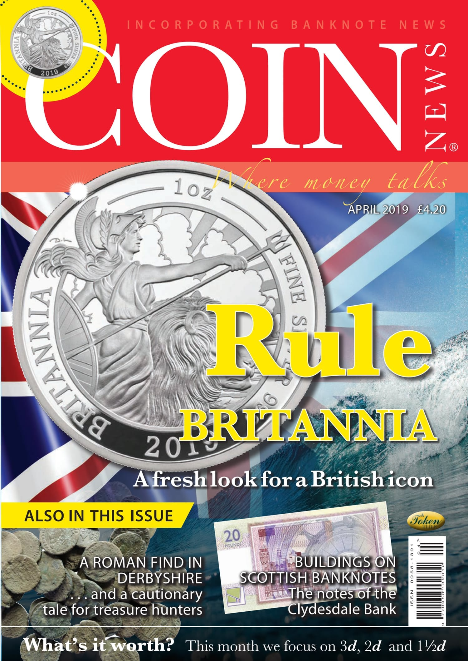 The front cover of Coin News, Volume 56, Number 4, April 2019