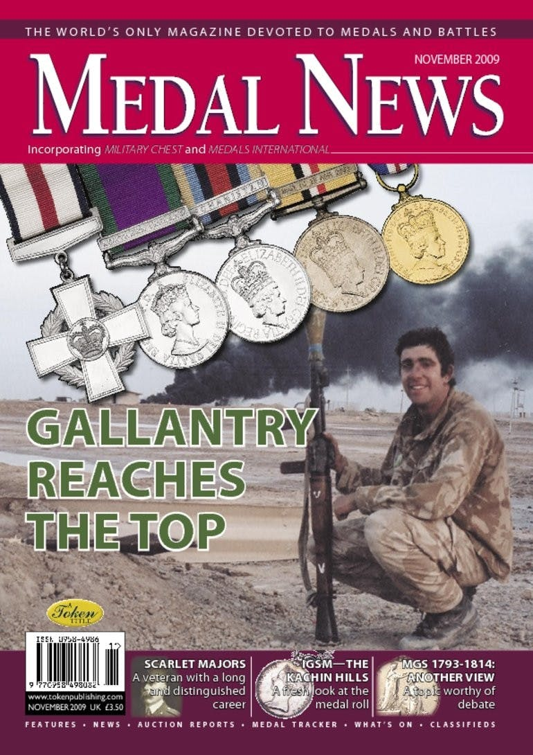 Front cover of 'A cross to bear..', Medal News November 2009, Volume 47, Number 10 by Token Publishing