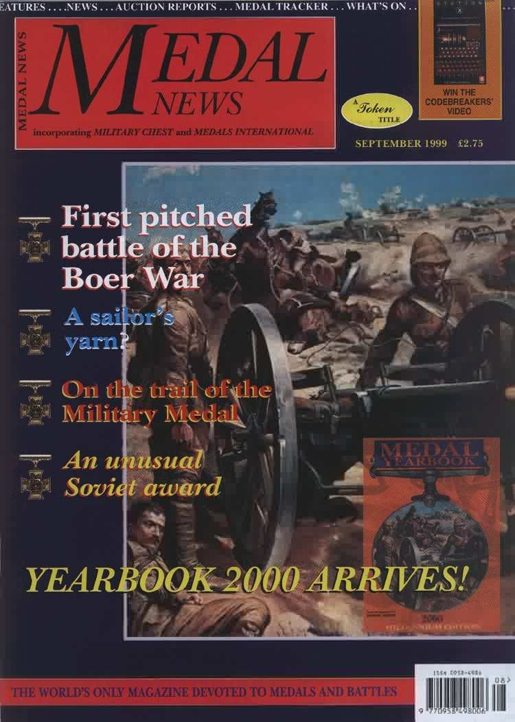 Front cover of 'THE BIGGER PICTURE', Medal News September 1999, Volume 37, Number 8 by Token Publishing