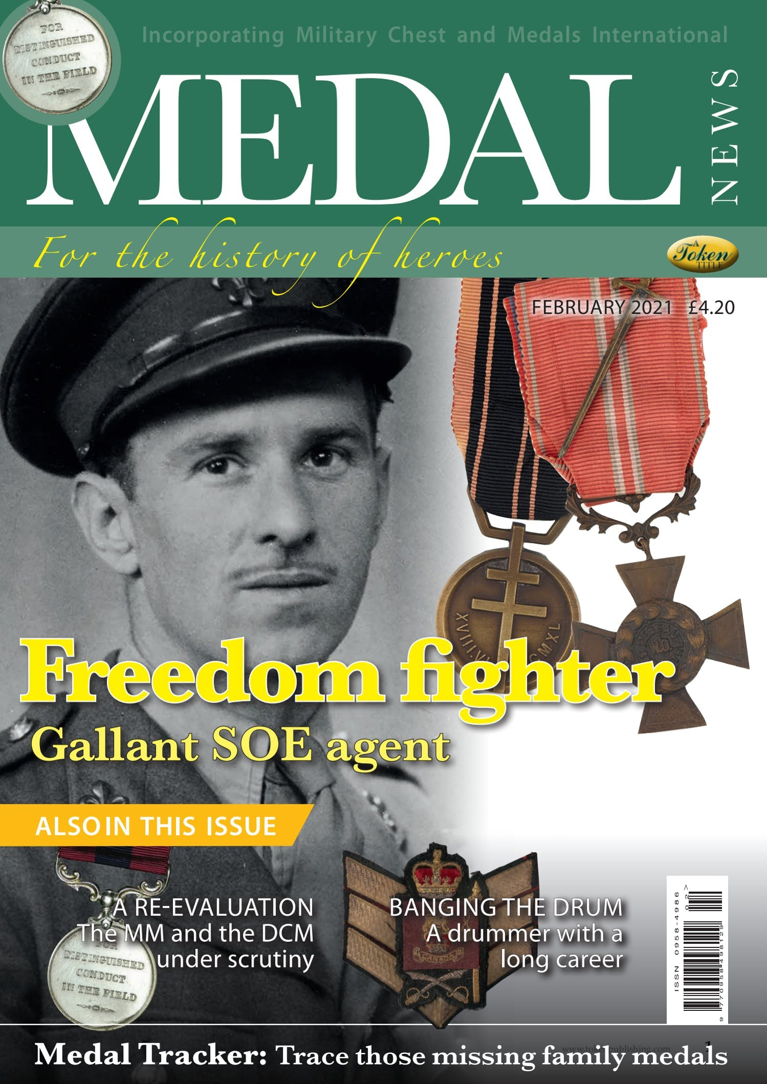 Front cover of 'Freedom fighter', Medal News February 2021, Volume 59, Number 2 by Token Publishing