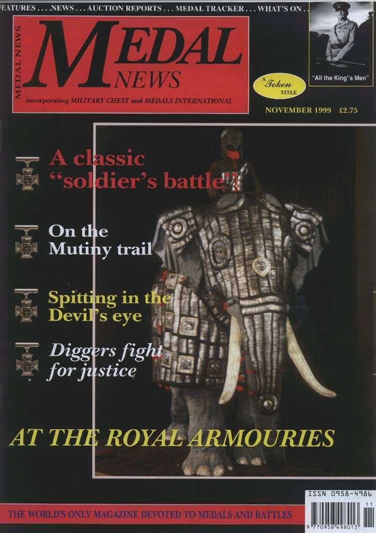 Front cover of 'From the Editorial desk', Medal News November 1999, Volume 37, Number 10 by Token Publishing