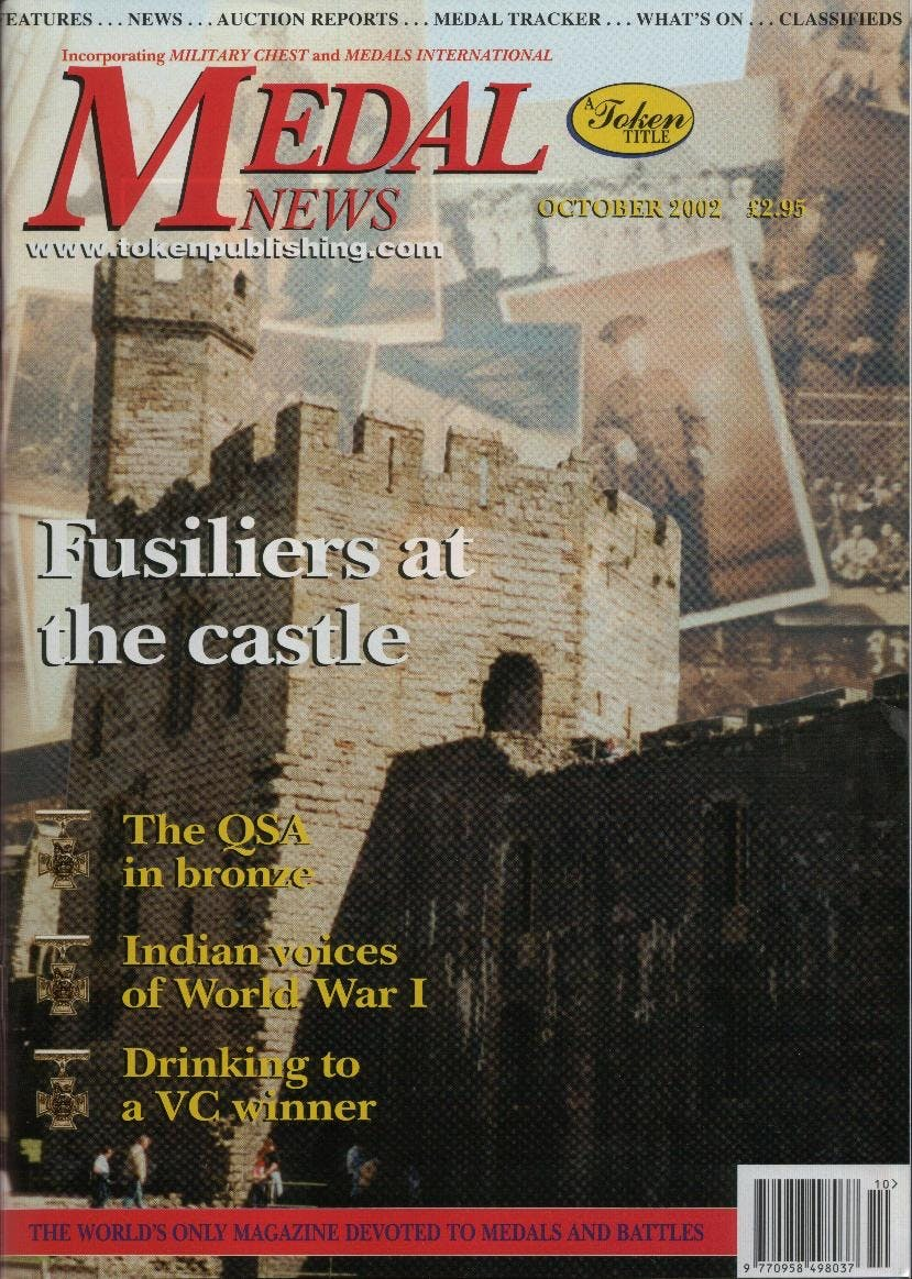 Front cover of 'A Family heirloom?', Medal News October 2002, Volume 40, Number 9 by Token Publishing