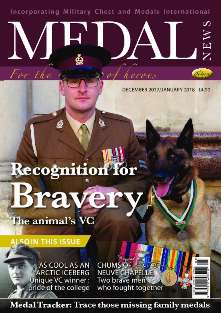 Front cover of 'Recognition for Bravery', Medal News January 2018, Volume 56, Number 1 by Token Publishing
