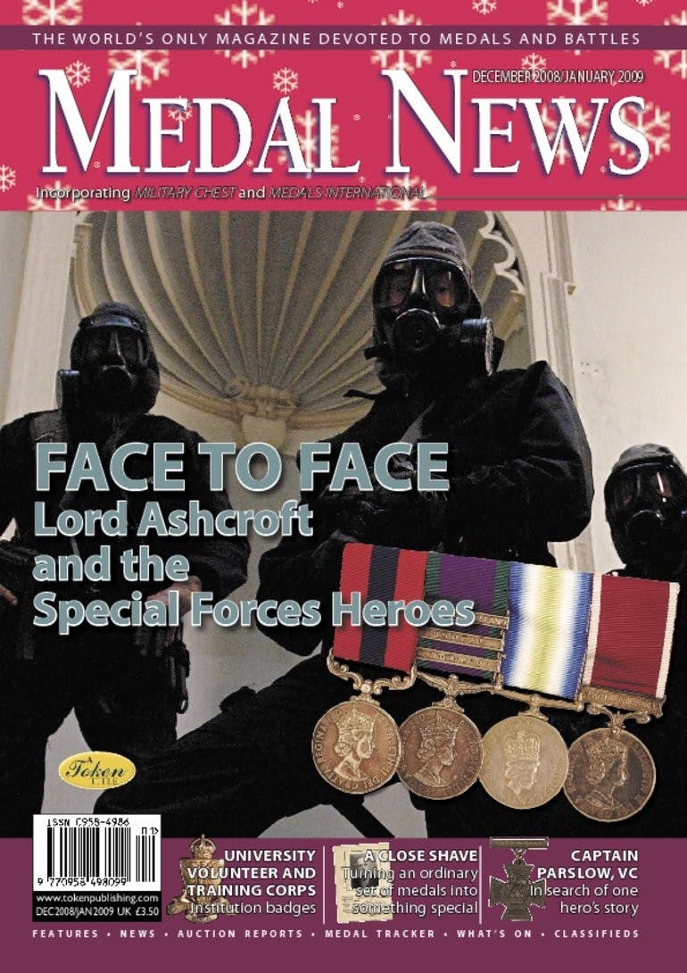 Front cover of 'Face to face', Medal News December 2008, Volume 47, Number 1 by Token Publishing