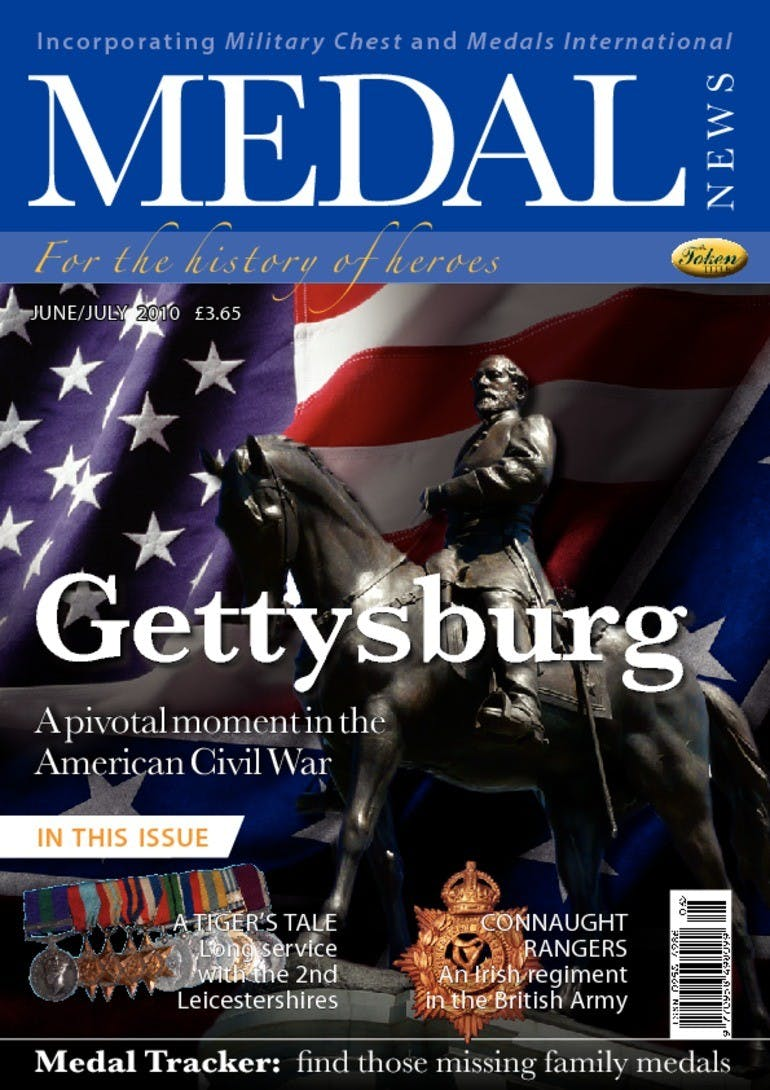Front cover of 'Gettysburg', Medal News June 2010, Volume 48, Number 6 by Token Publishing