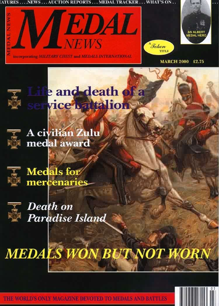 Front cover of 'Mightier than the sword ', Medal News March 2000, Volume 38, Number 3 by Token Publishing