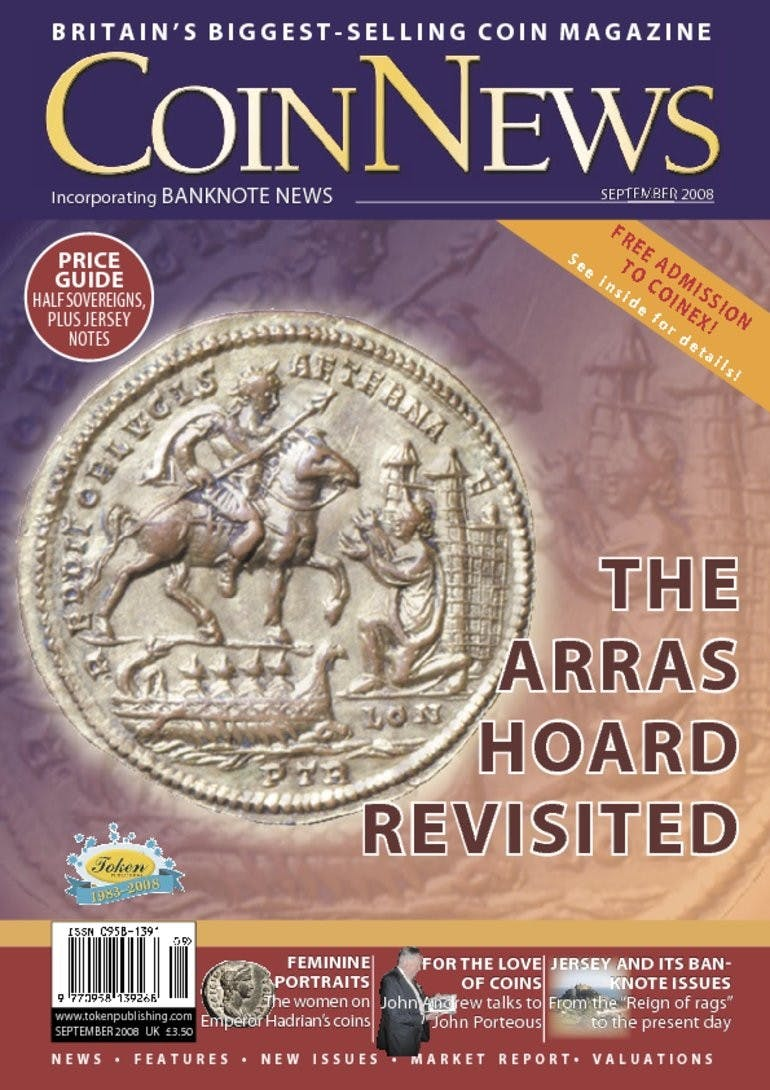 Front cover of 'The Arras hoard revisited', Coin News September 2008, Volume 45, Number 9 by Token Publishing