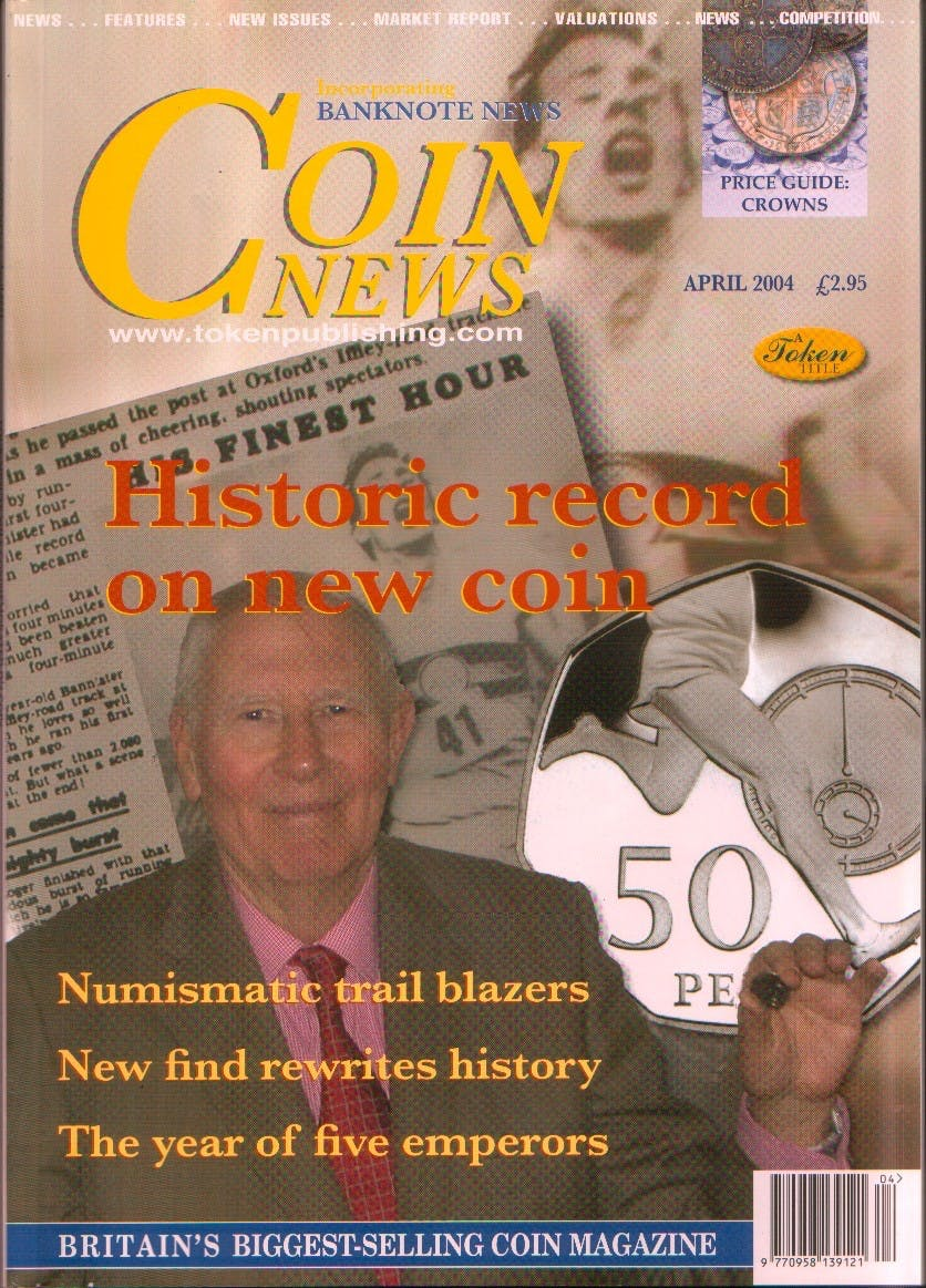 Front cover of 'Caution fakes and forgeries', Coin News April 2004, Volume 41, Number 4 by Token Publishing