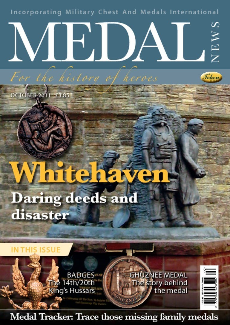 Front cover of 'Whitehaven', Medal News October 2011, Volume 49, Number 9 by Token Publishing