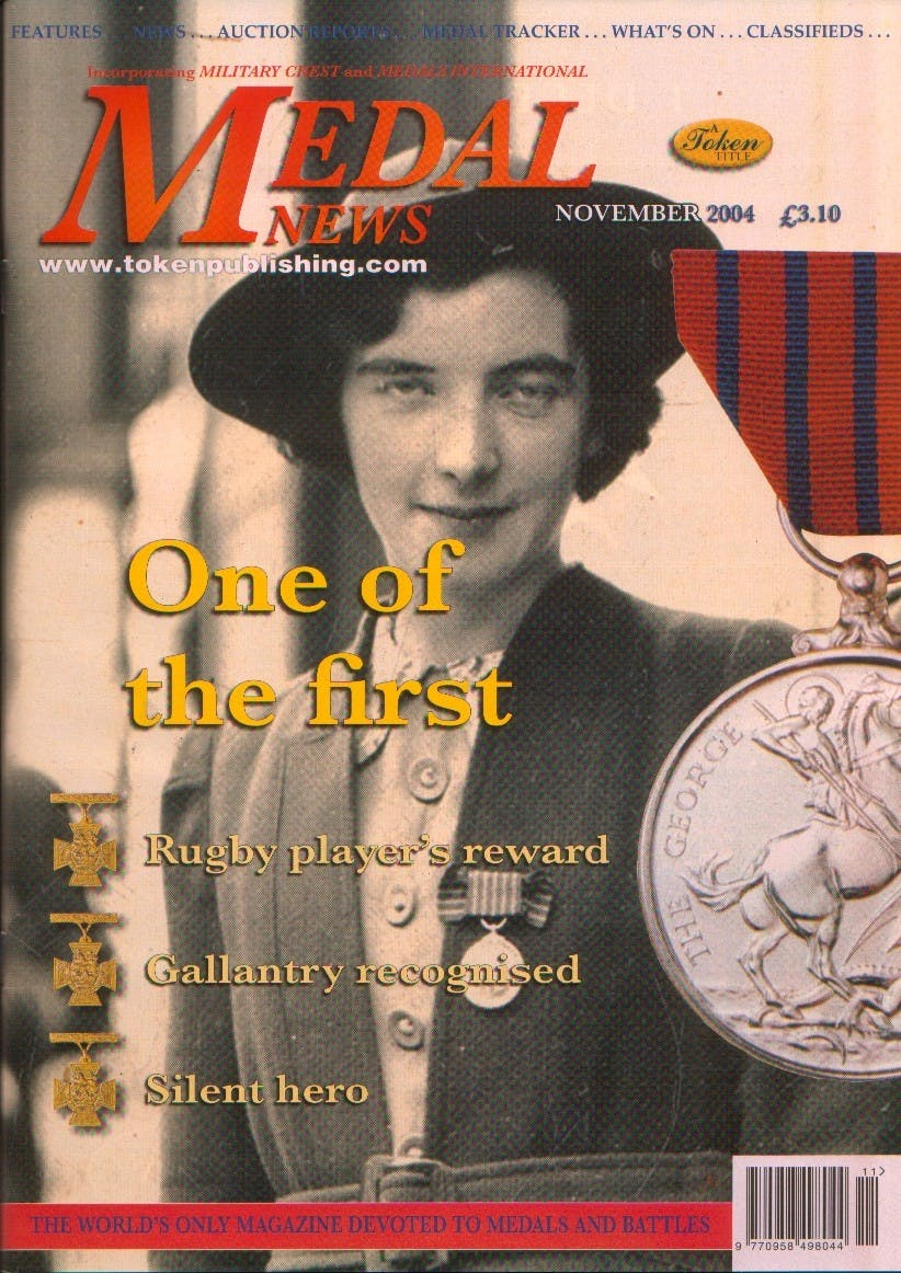 Front cover of 'Broken Promise', Medal News November 2004, Volume 42, Number 10 by Token Publishing