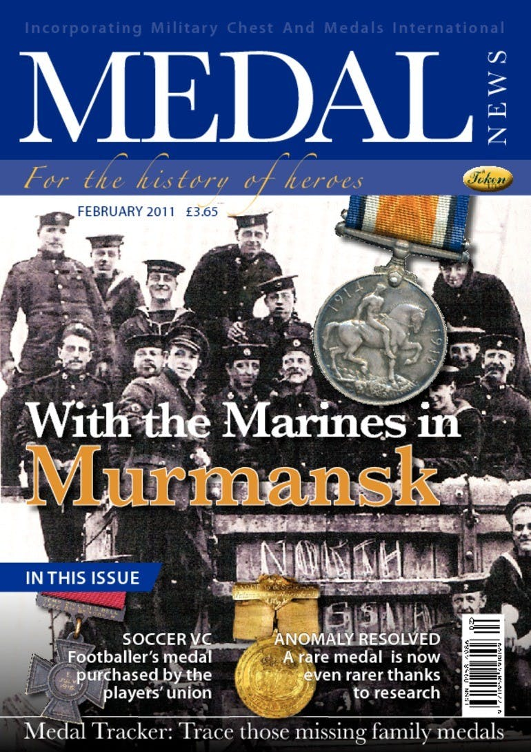 Front cover of 'With the Marines in Murmansk', Medal News February 2011, Volume 49, Number 2 by Token Publishing