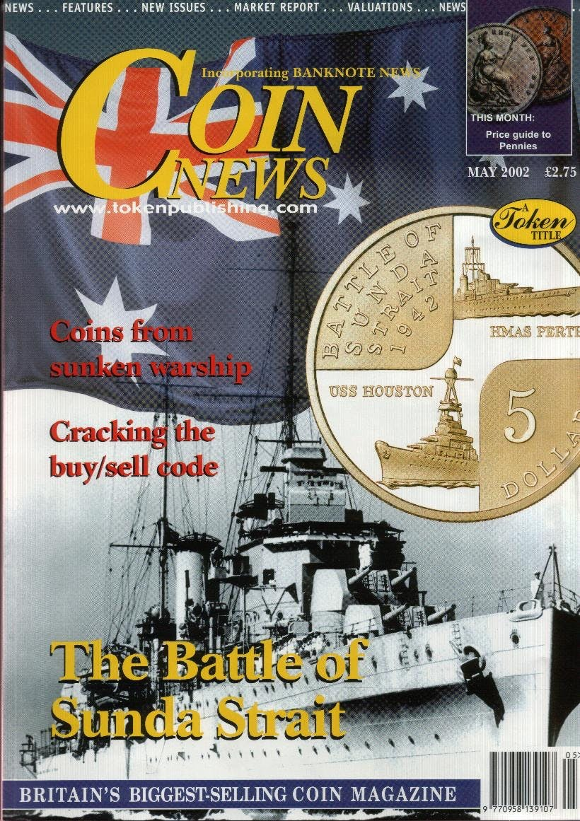 Front cover of 'Royal Farewell', Coin News May 2002, Volume 39, Number 5 by Token Publishing