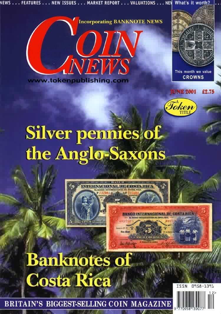 Front cover of 'A little ray of sunshine', Coin News June 2001, Volume 38, Number 6 by Token Publishing