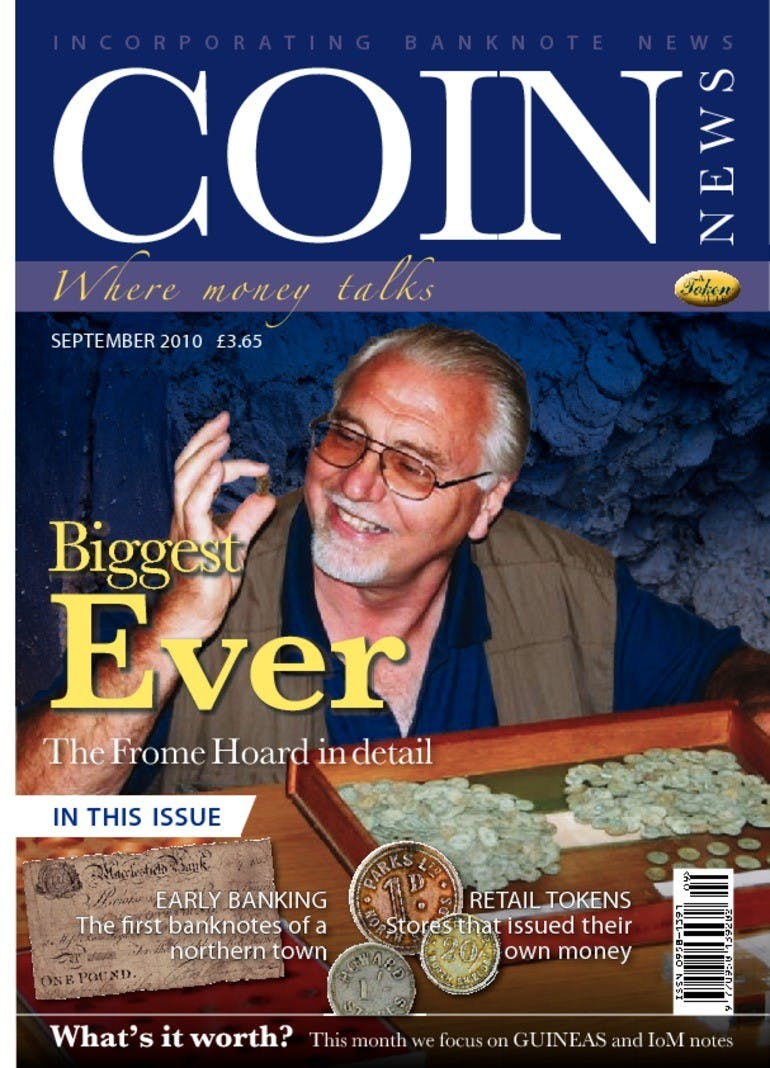 Front cover of 'Biggest ever', Coin News September 2010, Volume 47, Number 9 by Token Publishing