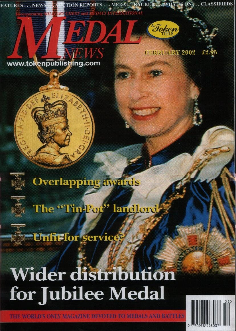 Front cover of 'Gallantry Still wins', Medal News February 2002, Volume 40, Number 2 by Token Publishing