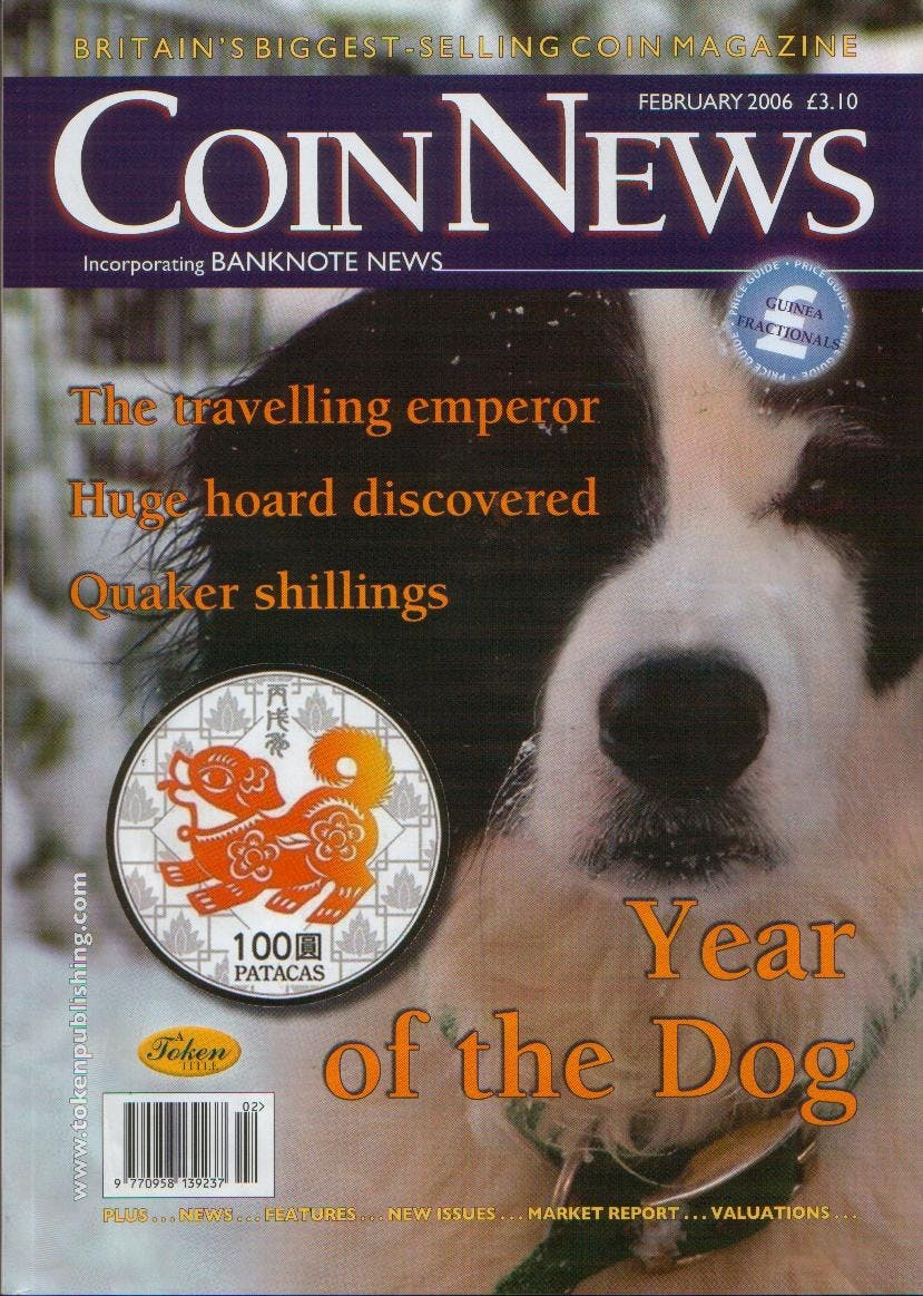 Front cover of 'The long term view', Coin News February 2006, Volume 44, Number 2 by Token Publishing