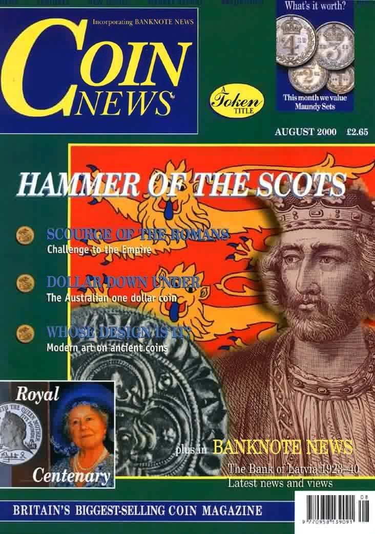 Front cover of 'Have you heard...?', Coin News August 2000, Volume 37, Number 8 by Token Publishing