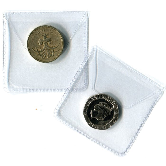 Single Pocket Plastic Envelope 50mm - No Longer Available from Token Publishing. Please contact www.curtiscoincare.com - Token Publishing Shop