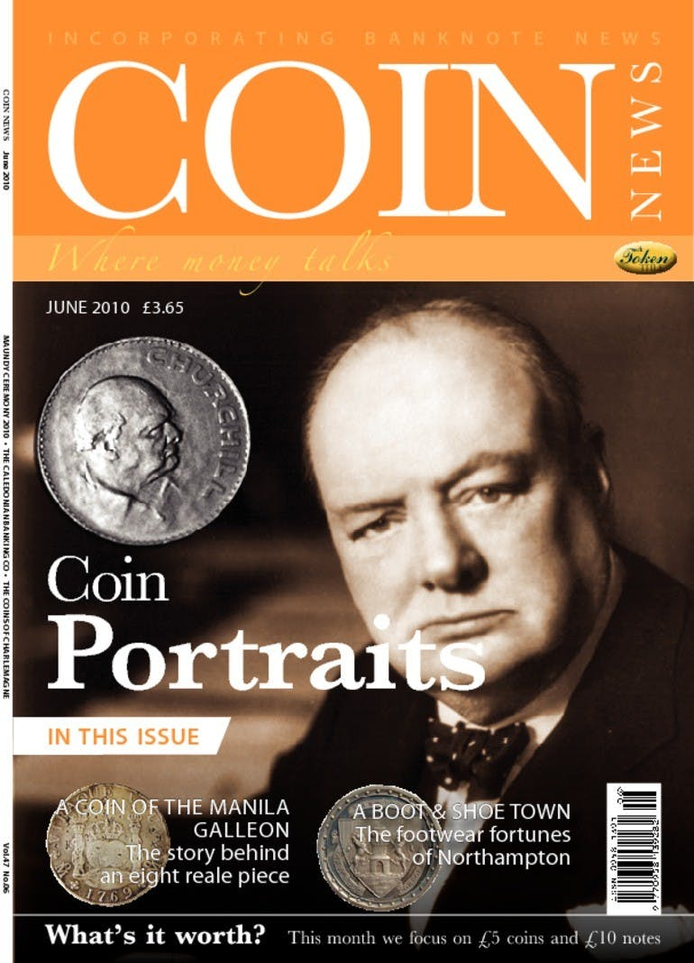 Front cover of 'Coin Portraits', Coin News June 2010, Volume 47, Number 6 by Token Publishing
