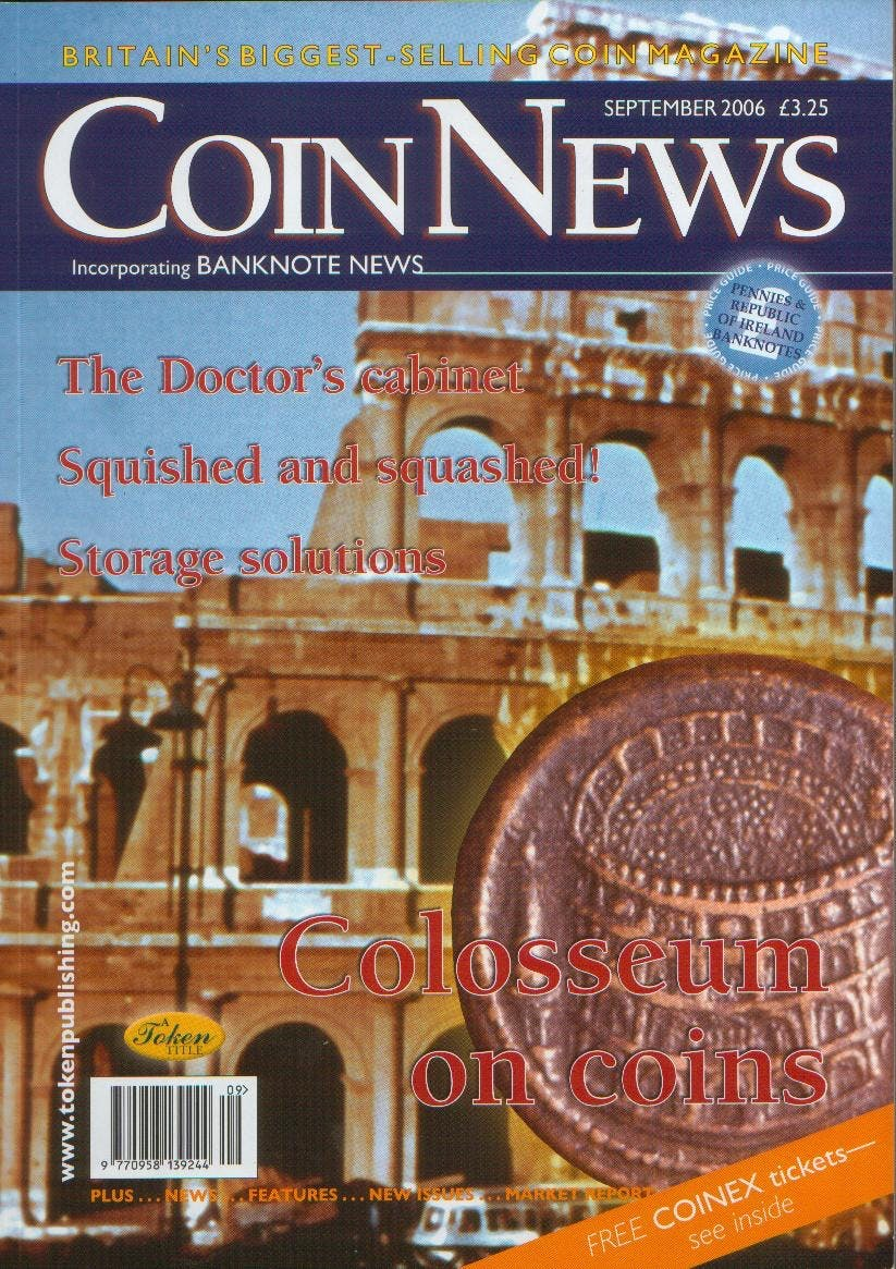 Front cover of 'Carrying on the fight', Coin News September 2006, Volume 43, Number 9 by Token Publishing