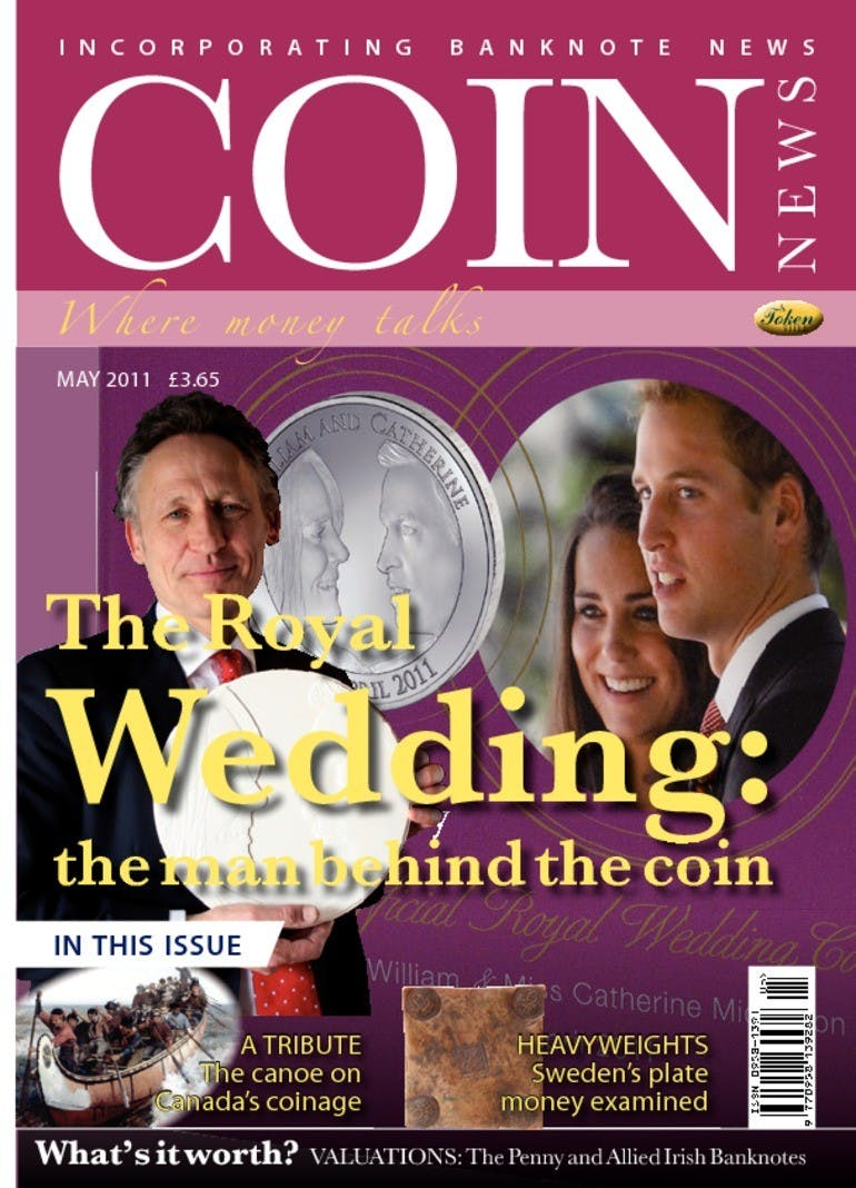 Front cover of 'The Royal Wedding', Coin News May 2011, Volume 48, Number 5 by Token Publishing