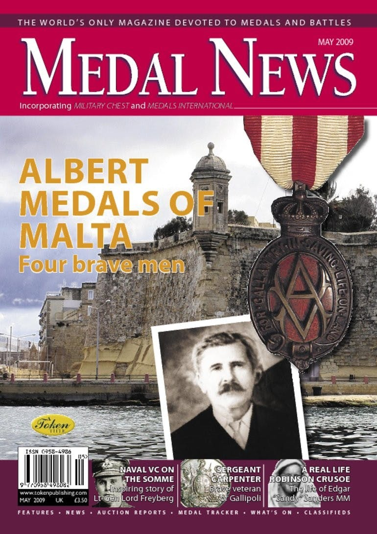 Front cover of 'Albert Medals of Malta', Medal News May 2009, Volume 47, Number 5 by Token Publishing