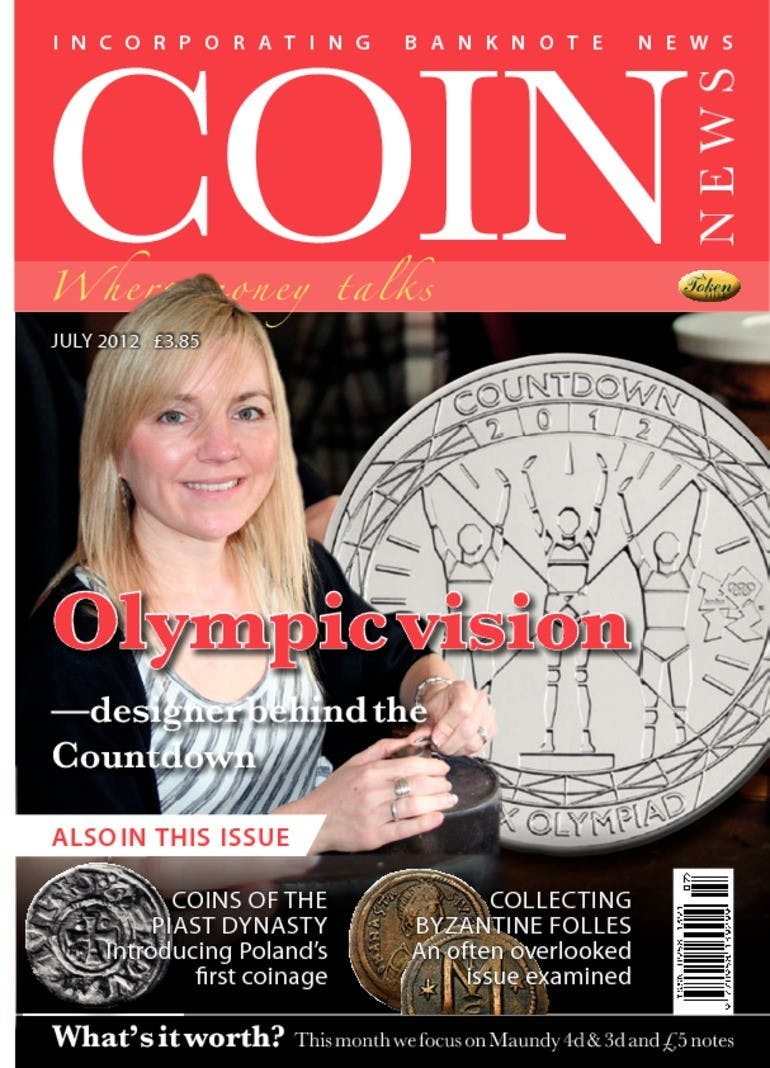 Front cover of 'Olympic Vision', Coin News July 2012, Volume 49, Number 7 by Token Publishing