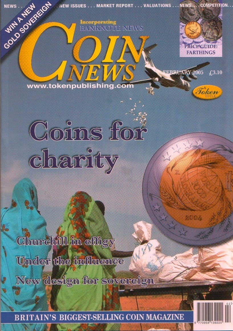 Front cover of 'Time for a change', Coin News February 2005, Volume 42, Number 2 by Token Publishing